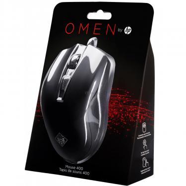Мышка HP OMEN 400 USB Black Фото 7