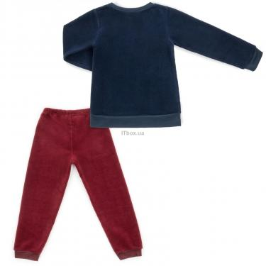 """Пижама Matilda флисовая """"FOOTBALL ACADEMY"""" (7536-3-128B-blue) - фото 4"""