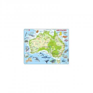 Пазл Larsen рамка-вкладыш Карта Австралии с животными серия М Фото