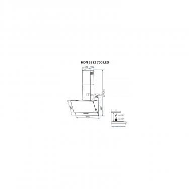 Вытяжка кухонная Minola HDN 5212 BL 700 LED Фото 10
