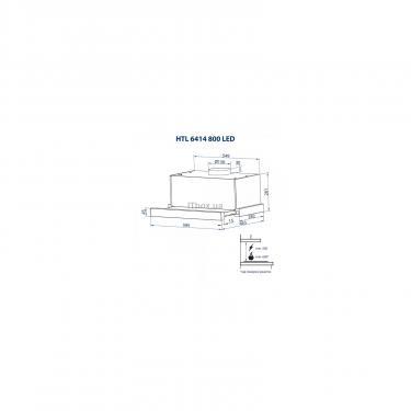 Вытяжка кухонная Minola HTL 6414 WH 800 LED Фото 11
