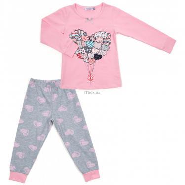 Пижама Matilda с сердечками (12101-3-152G-pink) - фото 1