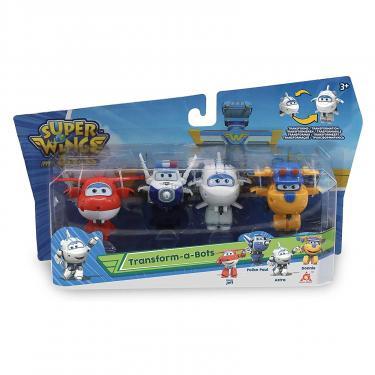 Игровой набор Super Wings Transform-a-bots, 4 фигурки-трансформеры, Джетт, П Фото