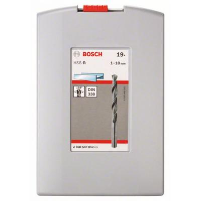 Набор сверл BOSCH PT Pro Box HSS-R, 19 шт. 1-10мм. набор по металлу (2.608.587.012)