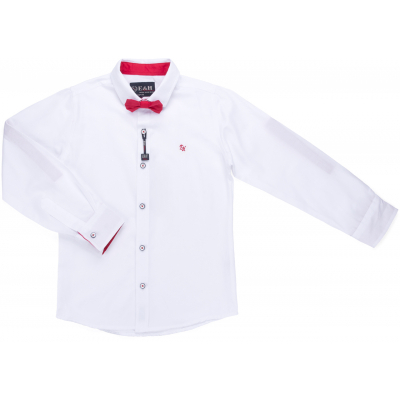 Рубашка Breeze с красной бабочкой (G-233-128B-white-red)