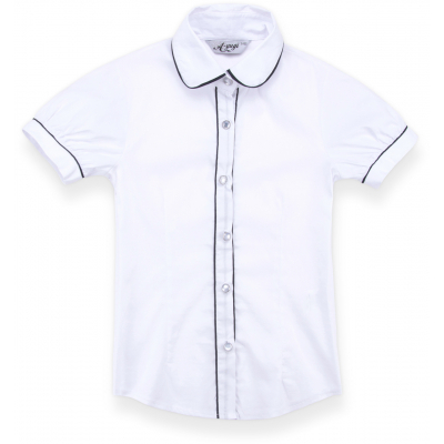 Блузка A-Yugi с коротким рукавом (1576-146G-white)